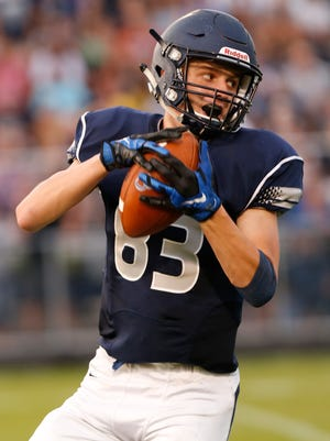 Central Catholic hosts Lafayette Jeff for the season opener for both teams Friday, August 18, 2017, at Central Catholic. Jeff pounded CC 54-0.