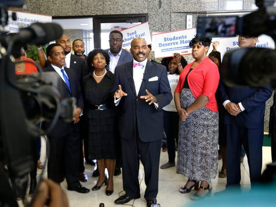 State Rep. G.A. Hardaway Sr., center, has been elected chairman of the Tennessee Black Caucus of State Legislators.