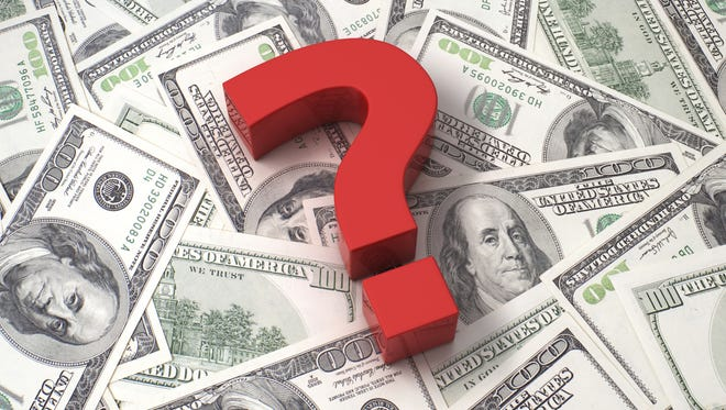 Question marks about dollars
