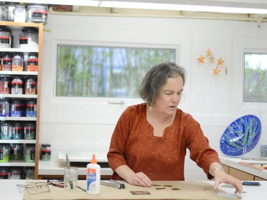 Janet Neuburg, a retired physician who has gradually built up a life as an established fused-glass artist, shows how some