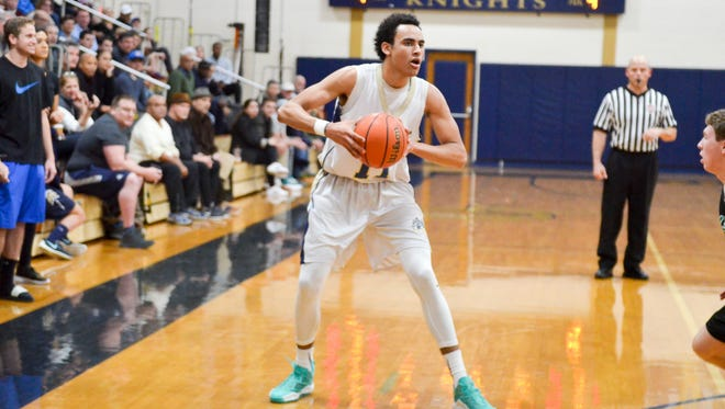 Justin Minaya put on a show for NV/Old Tappan on Thursday.