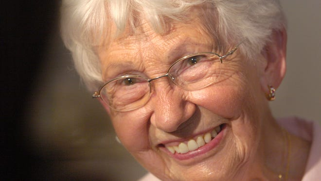 Dorothy Mengering, pictured in 2007, died Tuesday at age 95.
