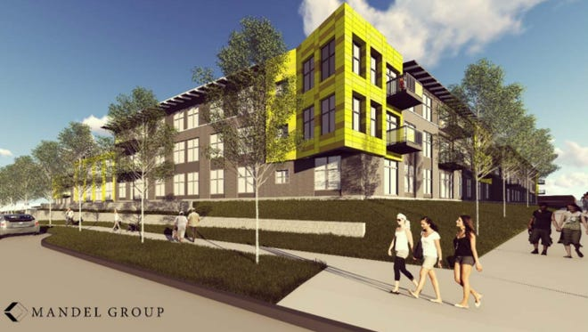 The Market at Six Points Apartments would be part of a mixed-use development near the West Allis Farmers Market.