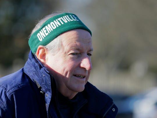 Ron Rauschart, president of OneMontville, speaks to