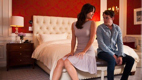 "Bérénice Marlohe and Anton Yelchin in ""5 to 7."""
