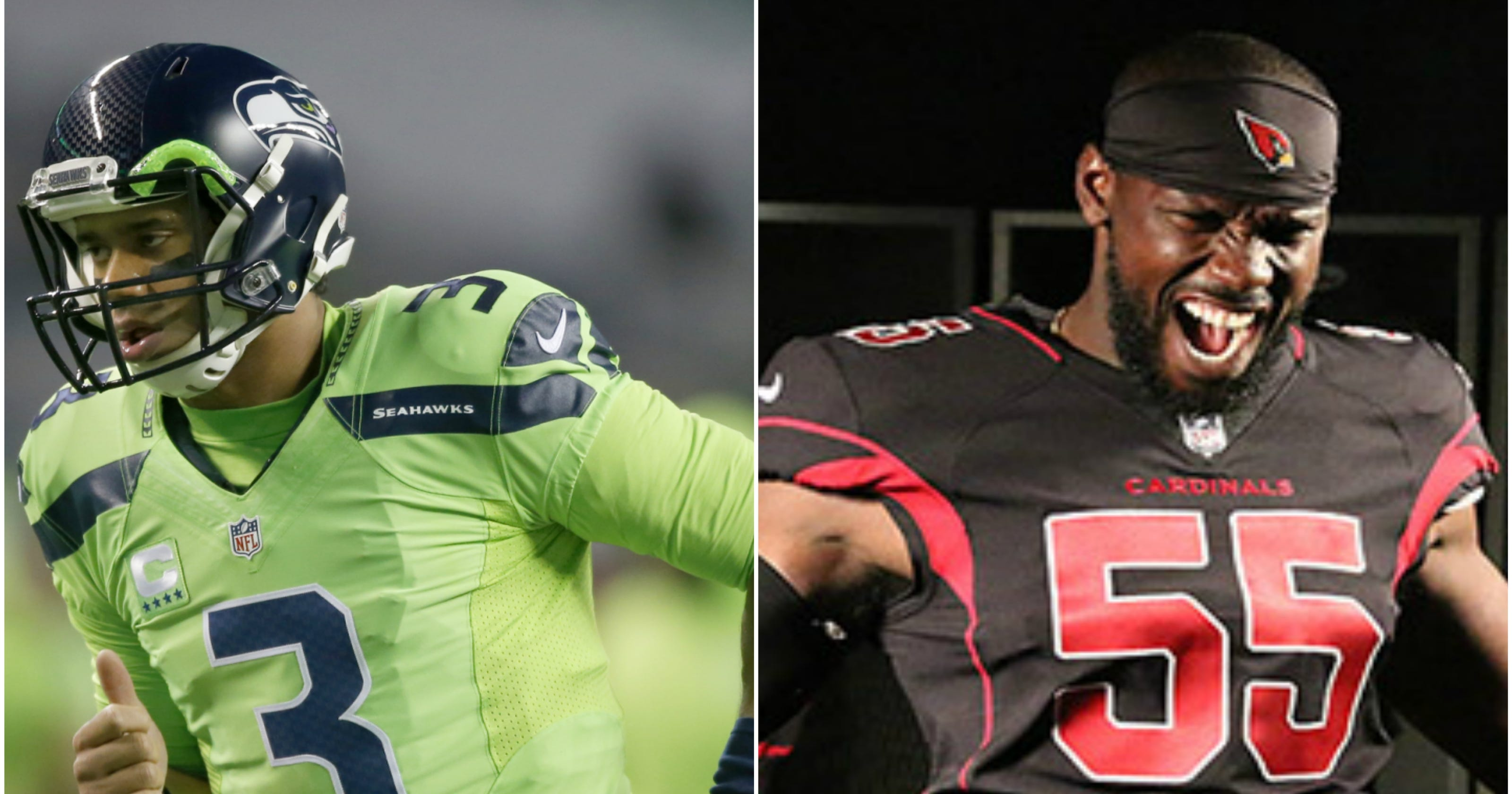 Arizona Cardinals-Seattle Seahawks Color Rush uniforms are hideous combo e8d9d004d