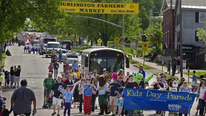 A parade will be part of Kids Day in Burlington on Saturday, May 5.