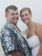 William and Catrina Ballou-Nowrey on their wedding day in 2008.
