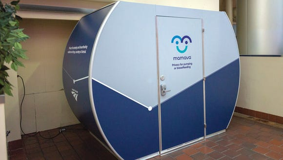 Amtrak train station has installed a Mamava lactation