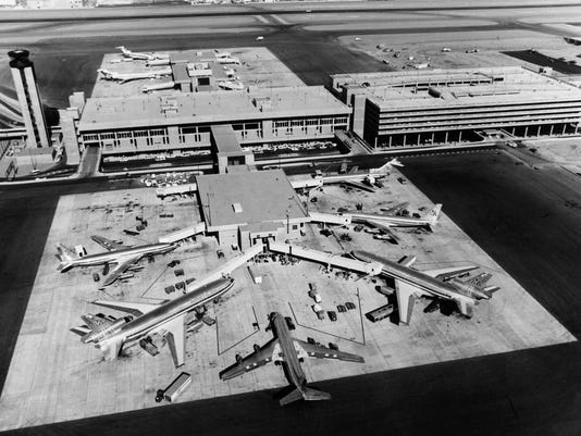 Arizona Then & Now: Phoenix Sky Harbor Terminal 3