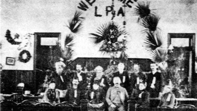Members of the Louisiana Press Association at the state meeting in Opelousas May 1-3, 1888.