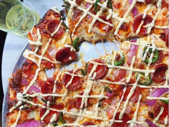 This fancy pizza is one of the dishes featured on Skyler Bouchard's blog.