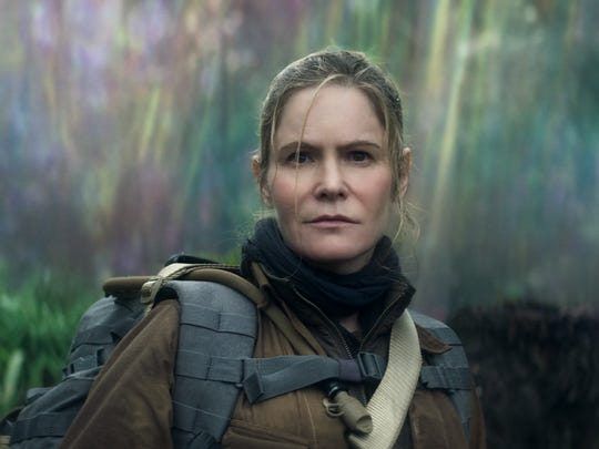 "Jennifer Jason Leigh plays Dr. Ventress in ""Annihilation."""