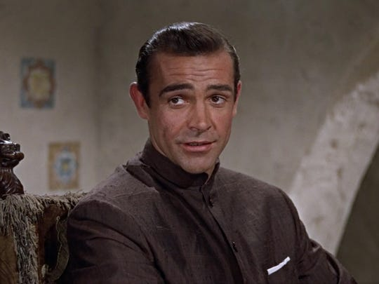 "Sean Connery as James Bond in ""Dr. No."" The 1962 film will be screened at UCSB's Campbell Hall July 5 and at the Santa Barbara County Courthouse Sunken GardenJuly 7."