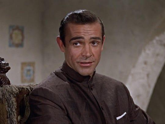 "Sean Connery as James Bond in ""Dr. No."""