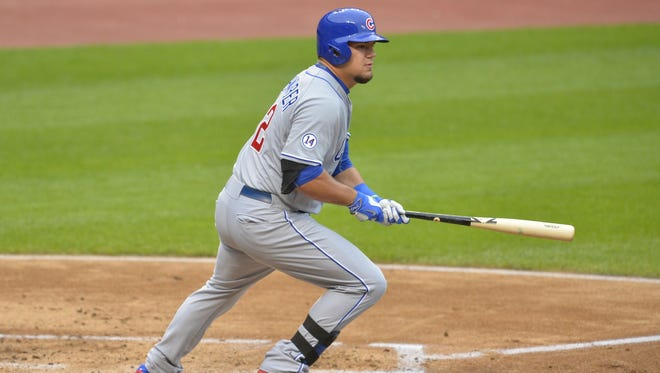 Former IU catcher Kyle Schwarber will be recalled by the Chicago Cubs on Friday.