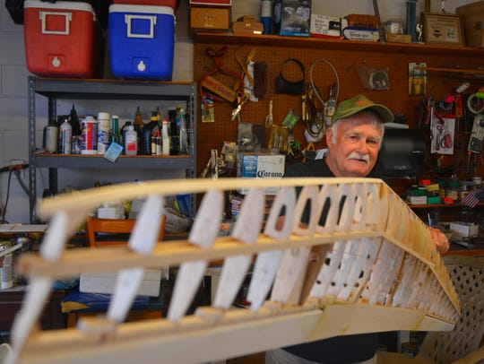 "Ed Mason is constructing the C-47 ""Tico Belle,"" the"