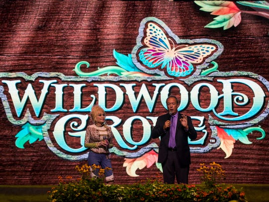 Dolly Parton and Dollywood President Craig Ross announce