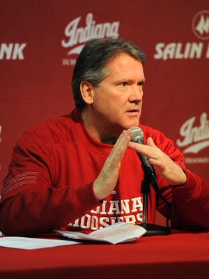 IU AD Fred Glass, shown here in February 2014, met with the IU board of trustees for a state of the athletic department address Friday.