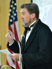 An Abraham Lincoln impersonator delivered the main