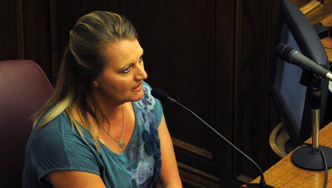 Rhonda Lott-Dunn testifies during court proceedings in the Ware v. DuPree trial.