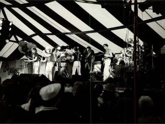 In this circa 1985 photo, The Skycoasters perform at the Downtown Festival Tent.