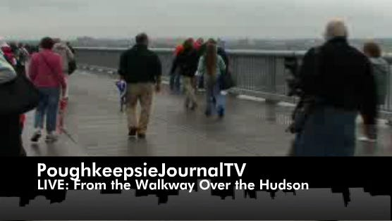 Poughkeepie Journal TV LIVE: From the Walkway Over the Hudson