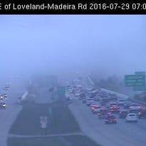Interstate 275 at East of Loveland-Madeira Road, July 29.