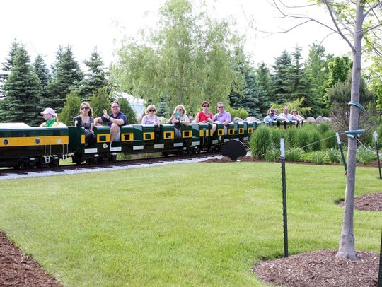 The Christopher Gardens offered a train ride to June-A-Palooza