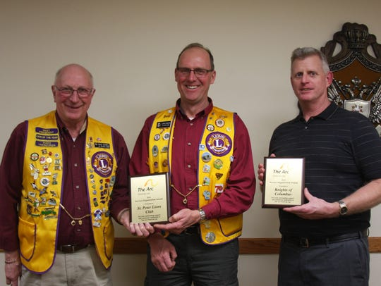 Pictured are the winners of the Service Organization
