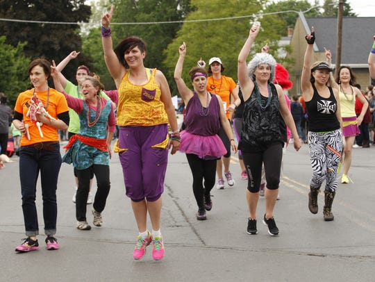Cayuga Medical Center marchers take part in the 2014