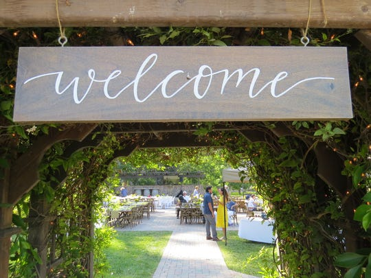 A sign welcomes attendees to the seventh annual From Field to Fork dinner at The Walnut Grove at Tierra Rejada Ranch in Moorpark.