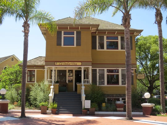 La Dolce Vita Ristorante is located in the 1900 Laurent/McGrath House, one of several historic homes and other structures at Heritage Square in downtown Oxnard.