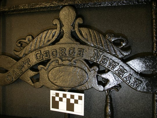 A look at Capt. George Newman's name on a wrought-iron