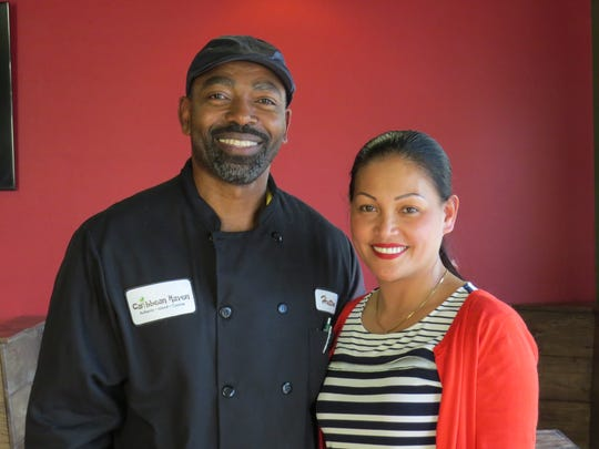 Hutton John and Richel Branum are co-owners of Caribbean Haven in Ventura. The restaurant features cuisine from their respective cultures, in addition to vegan and vegetarian fare.