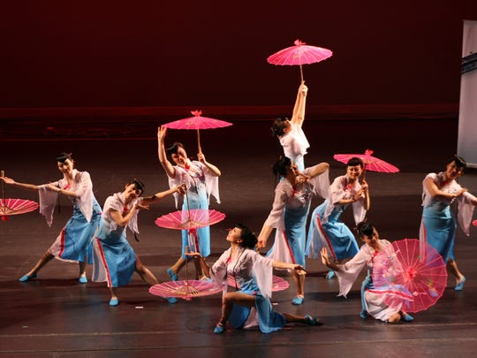 Pictured are members of the Confucius Institute at Purdue Performing Arts Troupe at an earlier event. On Sunday afternoon, Feb. 18, they will bring Tibetan dances to the Loeb Playhouse stage as part of the Chinese New Year Gala.
