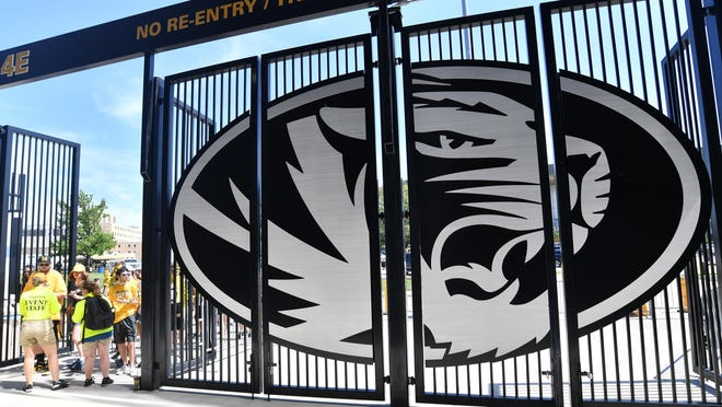 Fans enter one of the gates before the game between the Missouri Tigers and Tennessee Martin Skyhawks at Memorial Stadium in 2018.