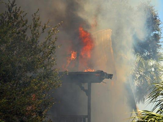 Historic Melbourne home burns