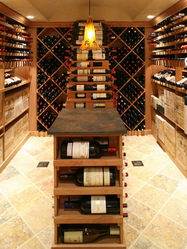 This is the wine cellar of Jay Rosen, owner of Washington