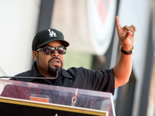 Rapper/actor Ice Cube attends his star unveiling ceremony