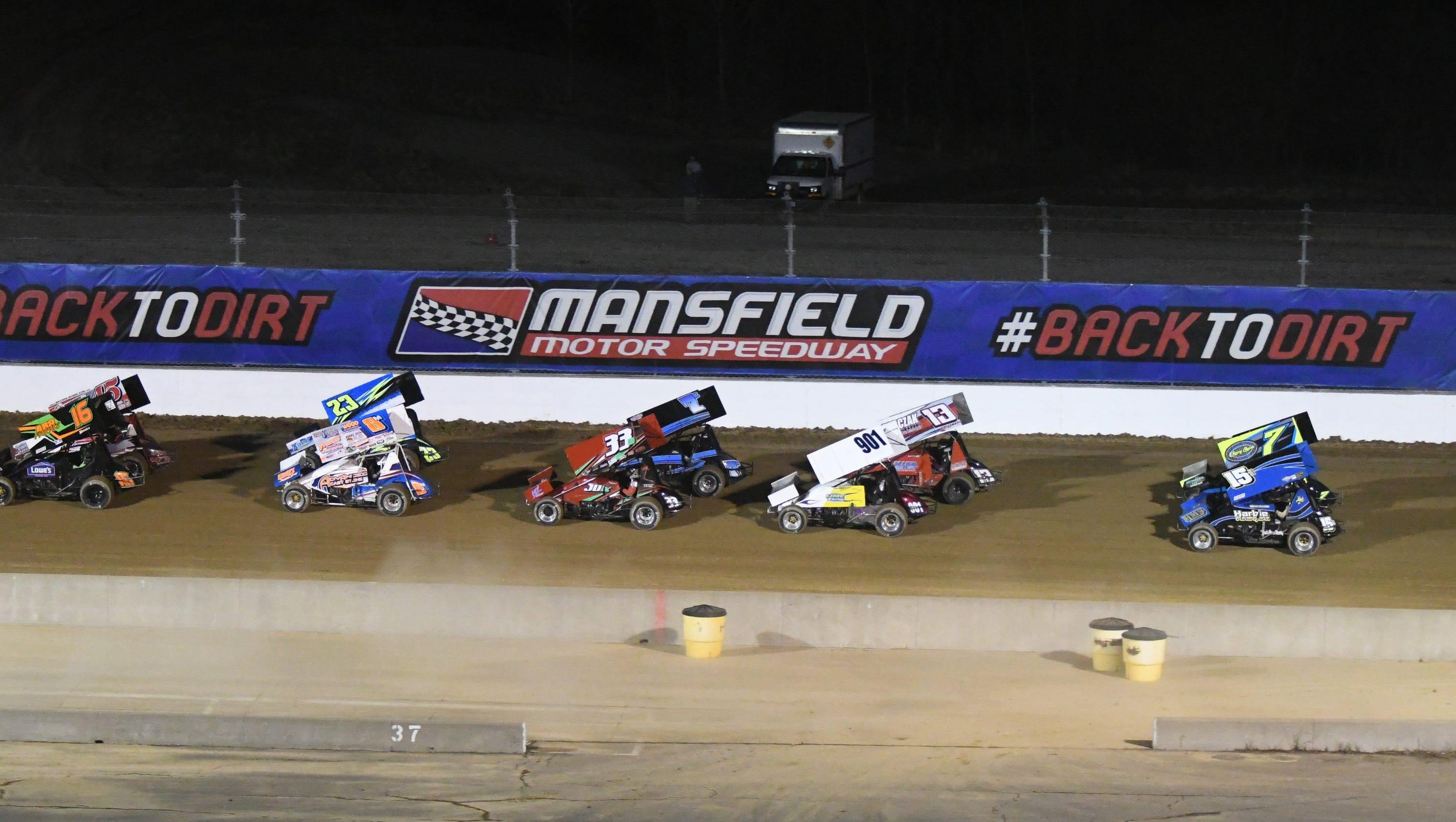 Mansfield Motor Speedway Sprint Car Race