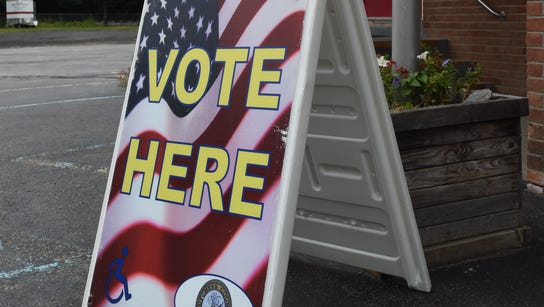 The polling place at East Clinton Fire District in