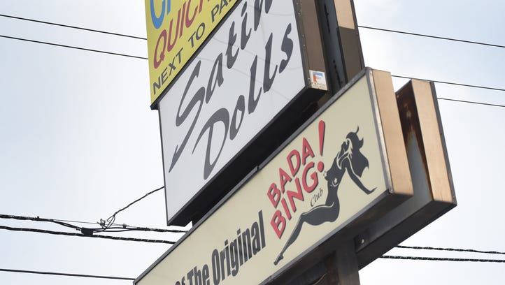 Exterior and the sign of Satin Dolls, the real-life