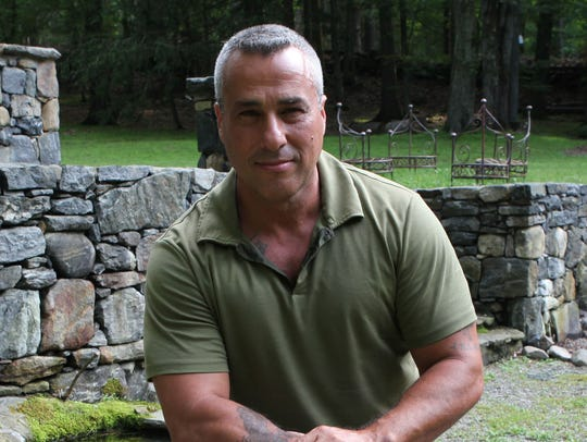 Charlie Frattini at his home in Croton before his journey