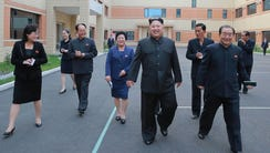 This undated picture released from North Korea's official
