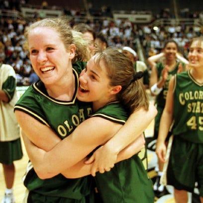 Colorado State University's Katie Cronin, left, and