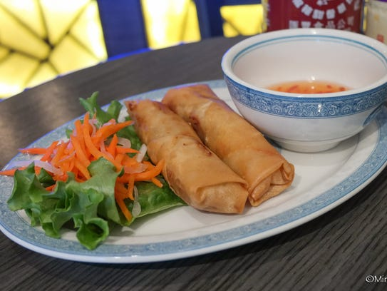 An order of two egg rolls is one of the grab-and-go