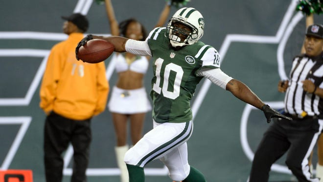WR Santonio Holmes spent the past four seasons with the Jets.