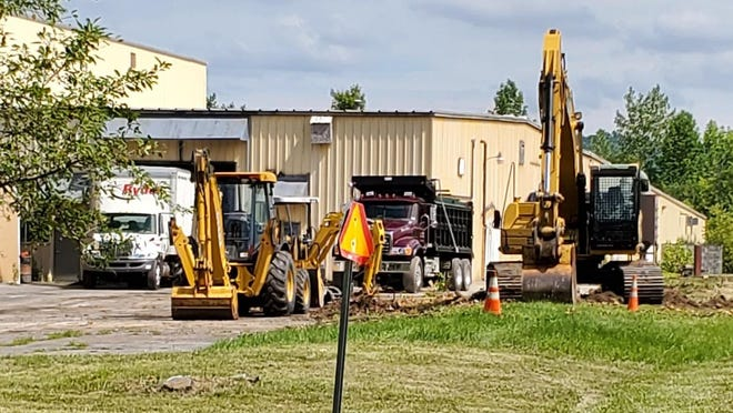 Construction is underway at a new expansion at the West Frankfort Industrial Park for the Utica-based HPK Industries.