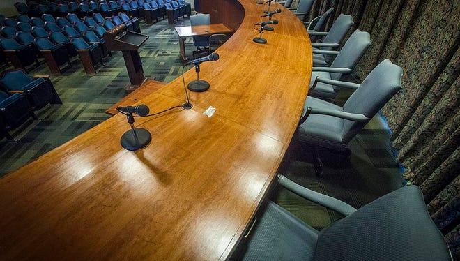 The City Hall auditorium when Muncie City Council meets.